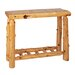 Fireside Lodge Traditional Cedar Log Console Table