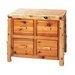 Traditional Cedar Log File Cabinet with Four Drawer