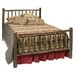 Hickory Log Slat Bed