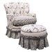 <strong>Toile Black Adult Princess Glider Rocker</strong> by Angel Song