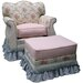 <strong>Blossoms and Bows Adult Empire Glider Rocker and Ottoman</strong> by Angel Song