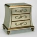 Aura Designs Hand Painted 3 Drawer Swirl Cabinet