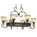 <strong>Golden Lighting</strong> Heartwood Chandelier Pot Rack with 8 Light
