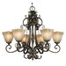 Golden Lighting Meridian 6 Light Chandelier