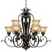 <strong>Golden Lighting</strong> Jefferson 9 Light Chandelier