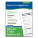 <strong>Rental/Credit Application Forms and Instruction (Set of 288)</strong> by Adams Business Forms