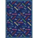 Educational Crayons Kids Rug
