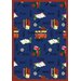 <strong>Joy Carpets</strong> Educational Bookworm Noterbook Kids Rug