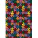 <strong>Joy Carpets</strong> Whimsy Essentials Puzzled Jigsaw Pieces Kids Rug