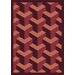 Joy Carpets Whimsy Family Legacies Rooftop Burgundy Rug