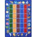 Educational Alphabet Phonics Blue Kids Rug