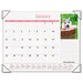 Puppies Full-Color Photographic Monthly Desk Pad Calendar, 22 x 17, 2013
