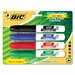Bic Corporation Great Erase Grip Dry Erase Chisel Tip Markers (4 Pack)