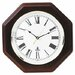 Octagon Mahogany Quartz Clock