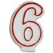 6 Numeral Birthday Candle