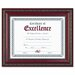 World Class Document Frame w/Certificate, Walnut, 8 1/2 x 11""
