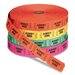 Generations® Pm Company Admit One Single Ticket Roll, Numbered, Assorted, 2000 Tickets/Roll