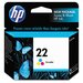 C9352An (22) Ink Cartridge, 165 Page-Yield