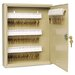 Locking Disc-Tumbler 80-Key Welded Steel Cabinet, 14w x 3-1/8d x 17-1/8h, Sand