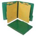 Classification Folios w/Fastener, Ltr, 6-Section, Forest Green, 10/box