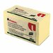 Universal® Recycled Sticky Notes, 3 X 3, Yellow; 18 100-Sheet Pads/Pack