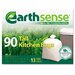 EarthSense Recycled Can Liners, 13gal, White, 90 Bags per Box