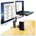 Column Mount Notebook-Monitor Dual Arm with Smartfit System