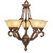 Villa Chandelier in Crackled Greek Bronze