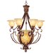 Drake Seven Light Chandelier in Crackled Greek Bronze
