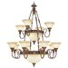 Sovereign 18 Light Chandelier