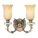 Bristol Manor  Vanity Light in Palacial bronze with Gilded Accents