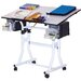 <strong>Martin Universal Design</strong> Weber Creation Station Melamine Drafting Table with High Chair