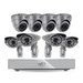 SVAT Electronics PRO 8CH Smart Security DVR with 1TB HDD and 4 x Hi-Res Outdoor Dome Security Cameras with IR Cut filter and 4 Ultra-Hi-Res Security Cameras