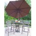 Elite Mississippi 5 Piece Bar Height Dining Set with Umbrella