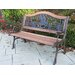 <strong>Horse Wood and Cast Iron Park Bench</strong> by Oakland Living