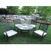 Oakland Living Stone Art Bistro Set with Cooler