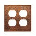 <strong>Premier Copper Products</strong> Copper Switchplate Double Duplex, 4 Hole Outlet Cover in Oil Rubbed Bronze