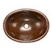 Premier Copper Products Oval Star Self Rimming Hammered Copper Sink