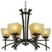 <strong>Yosemite Home Decor</strong> Sentinel 6 Light Chandelier