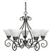 <strong>Nuvo Lighting</strong> Castillo 5 Light Chandelier