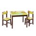 <strong>Jungle Party Kids 3 Piece Rectangle Table and Chair Set</strong> by Guidecraft