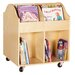 Guidecraft Rounded Edges Book Display Cart