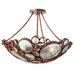 <strong>Varaluz</strong> Recycled Fascination Semi Flush Mount Ceiling Light