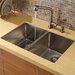 "Vigo 29"" x 20"" Undermount Double Bowl Kitchen Sink with Faucet and Soap Dispenser"
