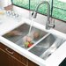 "Vigo 29"" x 20"" Double Bowl Zero Radius Undermount Kitchen Sink"