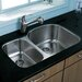 "<strong>Vigo</strong> 29.5"" x 20.75"" Double Bowl Undermount Kitchen Sink"