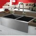 "Vigo 33"" x 22.25"" Double Bowl Farmhouse Kitchen Sink"