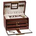 Paris Weave Jewelry Box with Three Drawers in Genuine Leather