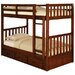 Weston Twin over Twin Bunk Bed with Built-In Ladder and Optional Storage
