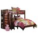 <strong>Weston Twin over Full L-Shaped Bunk Bed with Bookshelves and Storage</strong> by Discovery World Furniture